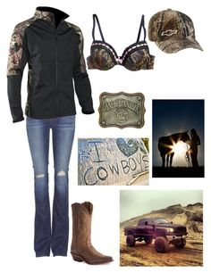 """""""Livin' That Country Life"""" by country-life ❤ liked on Polyvore featuring Realtree, J Brand, Diesel, Nocona and country"""