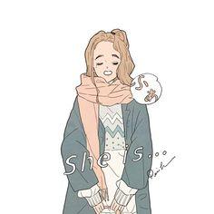 衣替え ( she is ... ふぁ ) #illustration #artwork #drawing