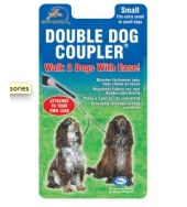 Double dog coupler for 2 dogs