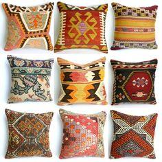 turkish kilim pillows by Erna Compion
