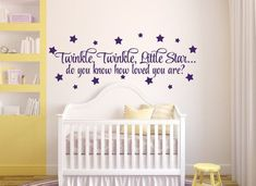 Items similar to Nursery Wall Decal Baby Nursery Decor, Twinkle Twinkle Little Star Do You Know How Loved You Are Nursery Decal Nursery Wall Decor Star Decal on Etsy Nursery Wall Quotes, Nursery Wall Decals, Baby Nursery Decor, Wall Stickers Quotes, Kids Wall Decor, Wallpaper Decor, Kids Room Art, Textured Walls, Frames On Wall