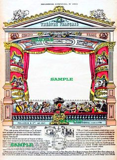 French Theater 1700's Digital Download Image 475 via Etsy.
