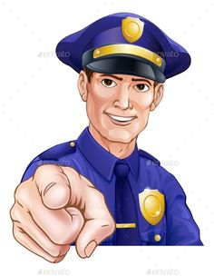 Smiling Pointing Police Man by Krisdog Happy friendly cartoon police officer policeman pointing Cartoon N, Cartoon Characters, Safety Dance, Police Love, Fashion Design Template, Gray Matters, Pretty Wallpapers, Poster Making, Police Officer