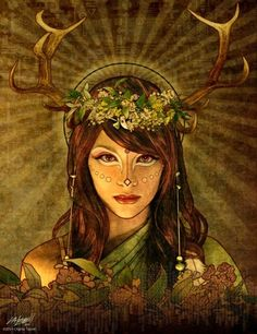 Brigit is the Celtic triple goddess. A fiery goddess who tirelessly protects those who call upon her. She is a feminine counterpart to Archangel Michael's warrior energy and was transitioned to St. Brigid by the Catholic church to bridge the Pagan and Christian divide.