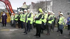 The ground breaking ceremony for the History Centre took place outside St Luke's Church, Tavistock Place on Monday 16 January Councillor Sam Davey, Dep. Tavistock, Plymouth, Centre, January, History, Historia, History Activities