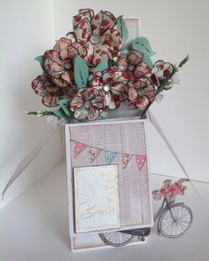 Card designed by Kay Fletcher using Al Fresco and Pop Up Box cards.