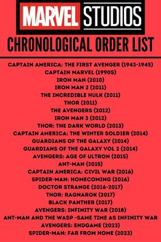 Marvel Movies List, Marvel Movies In Order, Films Marvel, Netflix Movies To Watch, Movie To Watch List, Disney Movies To Watch, Film Disney, Good Movies To Watch, Dc Movies