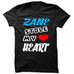 Awesome Tee Zane Stole My Heart - Cool Name Shirt ! Shirts & Tees