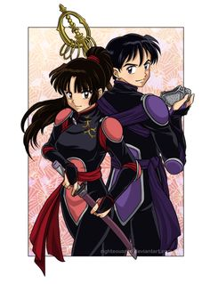 Taijiya Plural. +Semi-spoiler+ by ~righteousred on deviantART   If Miroku was a demon slayer as well