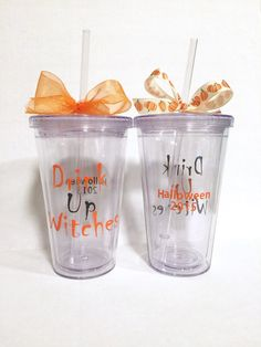 Halloween tumbler Drink up witches tumbler by MelsMemorableMakings