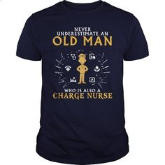 Charge Nurse old man 1 - #teespring #graphic tee. ORDER HERE => https://www.sunfrog.com/LifeStyle/Charge-Nurse-old-man-1-Navy-Blue-Guys.html?60505