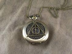 watch harry potter bronze the death hallows necklace brass flower pocket watch vintage style chain charm locket necklace