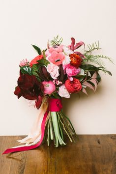 We love this bouquet: http://www.stylemepretty.com/collection/2319/