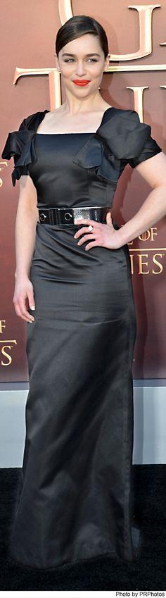 Emilia Clarke Wearing Alexander McQueen Black Dress - Game of Thrones Season 5 San Francisco Premiere - 03/23/2015
