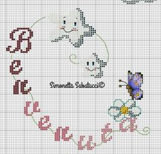 Butterfly Cross Stitch, Cross Stitch Baby, Cross Stitch Patterns, Easy Sewing Projects, New Baby Products, Needlework, Diy And Crafts, Kids Rugs, Embroidery
