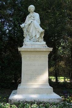 La Châtre (Indre) statue de George Sand par Aimé Millet