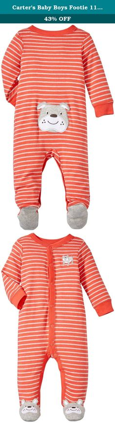 Carters Baby Boys Footie 115g070, Dog, 3 Months. Carters is the leading brand of childrens clothing, gifts and accessories in America, selling more than 10 products for every child born in the u.S. Their designs are based on a heritage of quality and innovation that has earned them the trust of generations of families.
