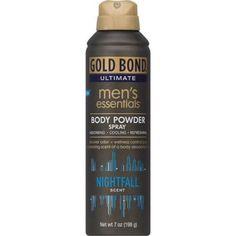 Gold Bond Ultimate Men's Essentials Nightfall Scent Body Powder Spray, 7 oz
