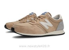 New Balance 420 Chaussures Unisexe Femme/Homme Classiques Champagne Beige