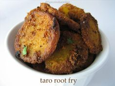 Taro Root (Seppankizhangu , Cheppankizhangu in Tamil / Arvi in Hindi / Chama Dumpa Vepudu / Chaama Dumpa in Telugu / Chamadumpalu Fry / Kilangu / Colacasia), Taro root fry, colocasia fry, taro root varucal, crispy arbi fry, seppankizhangu varuval, vegetarian sides, varuval recipes, deep fried foods, fries, rice side dish recipes, south indian foods, varuval recipes, south indian sides
