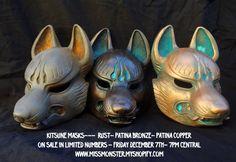 Kitsune masks preview by ~missmonster on deviantART