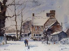 Mini Monet: 10 year old Kieron Williamson from the UK. Experts say that Kieron's work continues to get better and better Winter Painting, Winter Walk, Artists For Kids, English Artists, Building Art, Art Studies, Winter Scenes, Watercolor Paintings, Watercolours