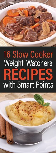 16 Slow Cooker Weight Watchers Recipes with Smart Points - weight watchers - Kalorienarme Rezepte Weight Watchers Diet, Weight Watcher Dinners, Weight Watcher Points, Weight Watchers Frozen Meals, Weight Watchers Chicken, Ww Recipes, Slow Cooker Recipes, Healthy Recipes, Recipies