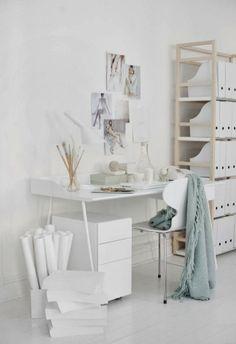 Interieur & Kleur   Inrichting tips & inspiratie voor een werk- hobbykamer in WIT
