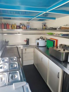 Interior of a fully equipped workhorse mobile kitchen food trailer on kitchen appliance location, kitchen molding ideas, kitchen window seat ideas, play kitchen ideas, kitchen workstation ideas, kitchen planning ideas, kitchen plan ideas, kitchen artwork ideas, kitchen safety ideas, kitchen bump out ideas, kitchen set ups, kitchen cabinets, kitchen tables ideas, kitchen with coffered ceiling, small kitchen ideas, kitchen bookshelf ideas, kitchen design ideas, kitchen island ideas, kitchen decorating ideas, kitchen configuration ideas,
