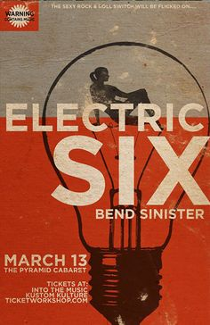 GigPosters.com - Electric Six - Bend Sinister