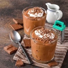 Schnelle, cremige Low Carb Schoko-Mousse