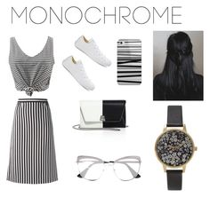 """""""Untitled #21"""" by rebekahdrhodes03 ❤ liked on Polyvore featuring WithChic, Marc Jacobs, Converse, Casetify, Akris, Olivia Burton and Prada"""