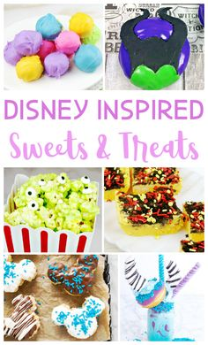 Enjoy this list of 20 Disney Inspired sweets and treats you NEED to make! Includes yummy Disney recipes for your own home! Disney Themed Food, Disney Inspired Food, Disney Snacks, Disney Desserts, Disney Home, Disney Tips, Disney Recipes, Disney Dinner, Disney Fun