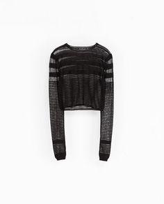 Zara transparent striped sweater
