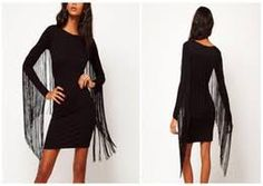 New 2015 fashion women's long sleeve back tassel dress women slim elastic tight party mini dress black wholesale