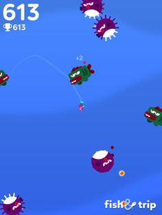 I got 613 points! Can you beat me? #FishandTrip