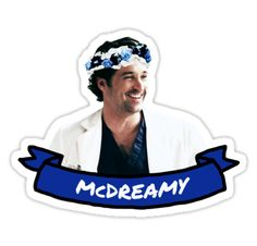 """McDreamy"" Stickers by drmedusagrey 