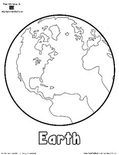 Planet Earth Printable Outlines and Shape Book Writing Pages | A to Z Teacher Stuff Printable Pages and Worksheets