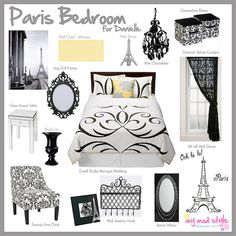 Design Board - Paris Theme by Jessie {Creating Happy}, via Flickr