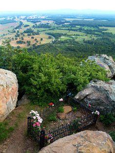 Petit Jean's Grave---Petit Jean Mountain---Morrilton, Arkansas. One of my favorite places to go as a kid.