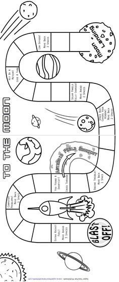 To The Moon (Printable Board Game)