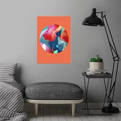 Play Circle 6 detailed, premium quality, magnet mounted prints on metal designed by talented artists. Our posters will make your wall come to life. Pop Art Posters, Well Thought Out, Off The Wall, New Artists, Print Artist, Cool Artwork, Metal, Colours, Plates