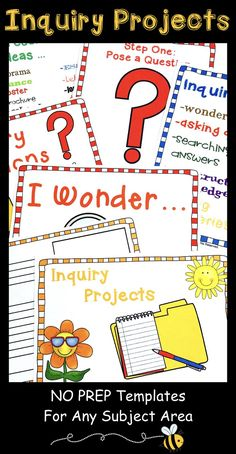Teaching inquiry is easy with these NO PREP resources for any subject area! inquiry based learning inquiry based learning activities inquiry based learning grade 3 inquiry based learning grade 2 inquiry based learning grade one Kindergarten Inquiry, Inquiry Based Learning, Project Based Learning, Learning Centers, Primary Teaching, Teaching Writing, Writing Activities, Elementary Teaching, Writing Ideas