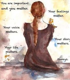 You matter. #inspiration #recovery #depression