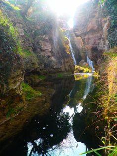 RUBENADAS: BARRANCO DE LA HOZ SECA - CALMARZA - HOCES RIO MESA Pozo Redondo y un poco de la cascada