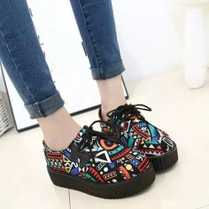 Women Flats Shoes 2016 new fashion creepers shoes woman plus size Creepers platform shoes