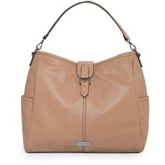 Plebbed Hobo Bag ($31) ❤ liked on Polyvore
