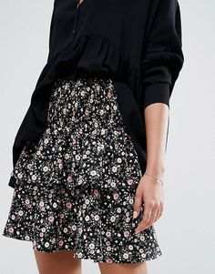 Y.A.S Ditsy Print Skirt
