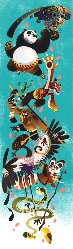 Animal is Kung Fu fighting by galgard on Kung Fu Panda. The Five, plus Po and Shifu, fighting Tai Lung. Dreamworks Movies, Dreamworks Animation, Animation Film, Disney And Dreamworks, Kung Fu Panda 3, Character Concept, Concept Art, Character Design, Guerrero Dragon