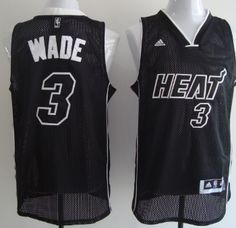 6341e0249 ... Dwyane Wade All Black With White Swingman Jersey Miami Heat ...